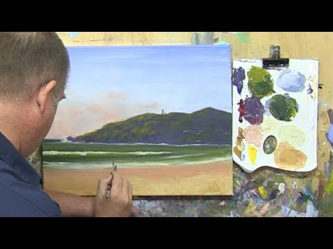 "Learn To Paint TV E5 ""Byron Bay Beach"" Acrylic Painting For Beginners."