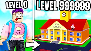 Can We Build A LEVEL 999,999 SCHOOL In ROBLOX!? (INSANE RESULTS)