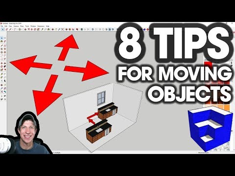 8 Tips for MOVING OBJECTS PRECISELY in SketchUp