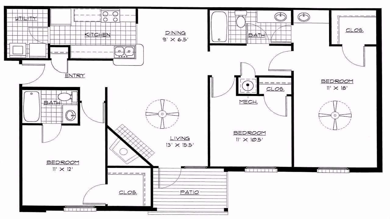 9 Bedroom House Plans Open Floor Plan (see description)