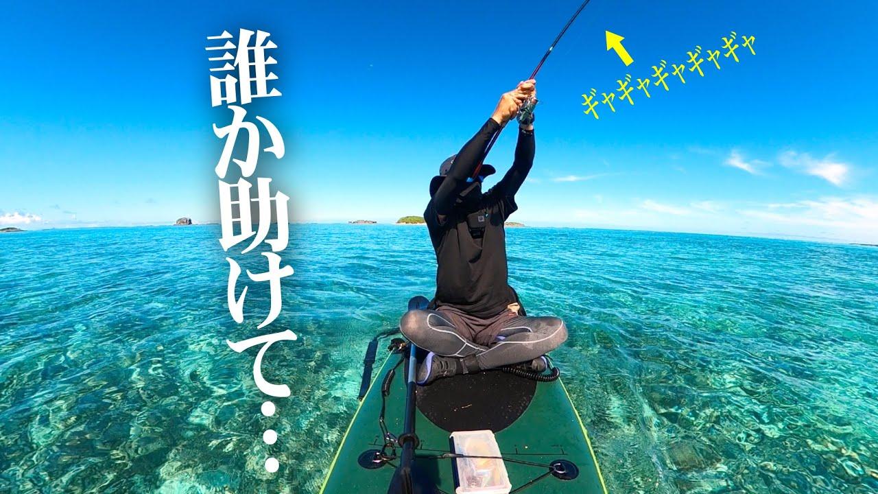 【離島生活】SUP釣りしたら大物に引きずり回されました