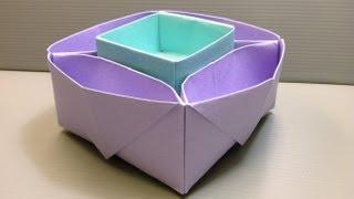 Origami candy dish instructions www origami - Origami desk organizer ...
