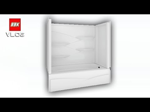Delta Laurel High Gloss White Acrylic Bathtub Wall Surround ...