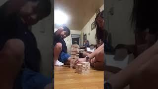 Bullet Baby and Nanay Madc playing Jenga