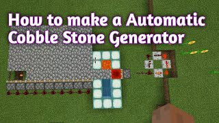 How To Work A Cobble Stone Generator|minecraft Cobble Stone Generator Tiktok Hack|Minecraft Hacks