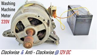 Run a 220V Washing Machine Motor at 12V DC ( runs in both directions via UPS Battery ) - Explanation