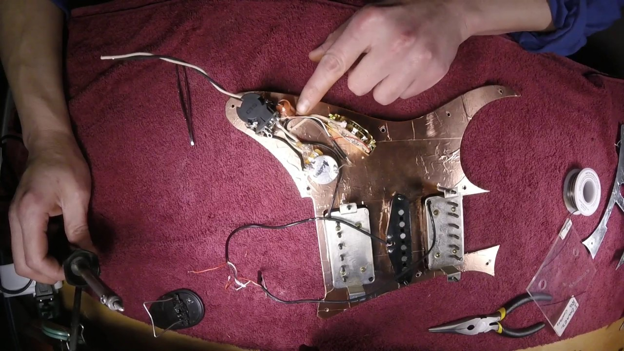 installing pickups into a custom wiring harness with a push pull tone into an ibanez rg550 [ 1280 x 720 Pixel ]