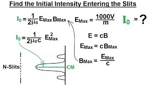 Physics - Optics: Double Slit Interference (26 of 35) N-Slits The General Appr, Initial Intensity=?