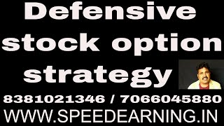 Defensive stock option strategy can give you biggest profits with smallest stop loss