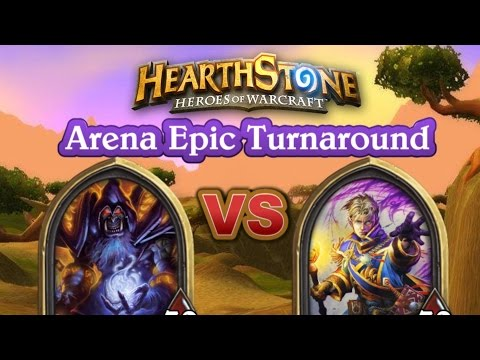 Epic Turn Around ~ Warlock VS Priest Arena 5 Wins ~ Hearthstone Heroes Of Warcraft