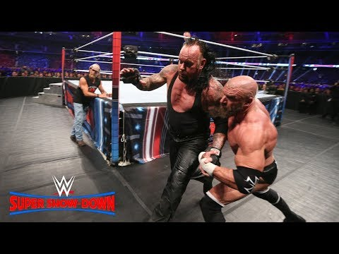 Triple H and Undertaker take their fight to the extreme: WWE Super Show-Down 2018 (WWE Network)