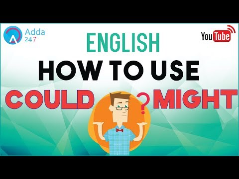 How to use COULD and MIGHT | ENGLISH for SSC CGL 2017