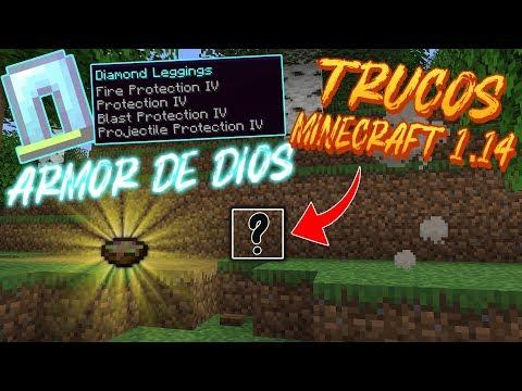 Trucos Minecraft 1.14 (ARMOR DE DIOS y BASE SUPER SECRETA)