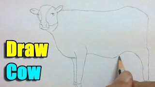 How to Draw a Cow - Very Easy