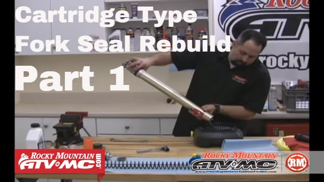 Motorcycle Fork Seal Change Part 1 (of 2) Cartridge Type