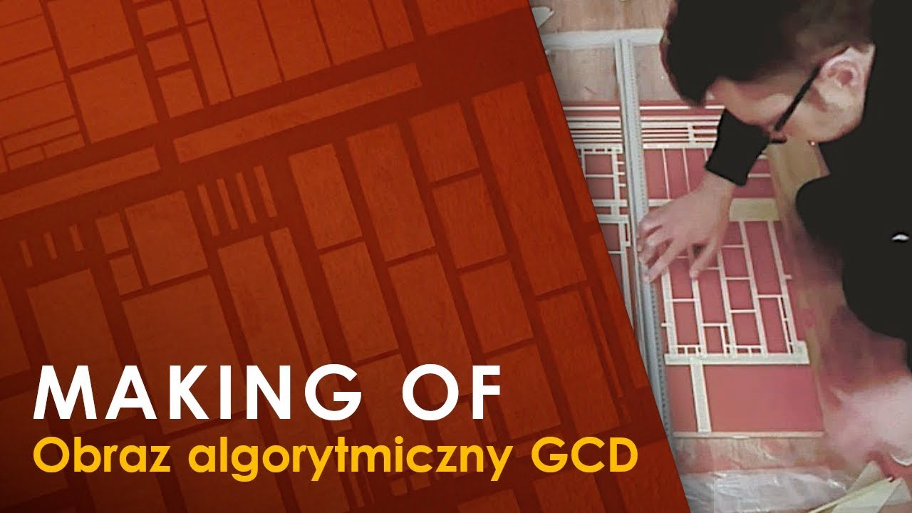 Making of: obraz algorytmiczny GCD (Greatest Common Divisor)