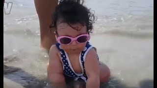 FUNNY BABIES BEACH FAILS - Only ROBOTS will not LAUGH while watching this kids Compilation!