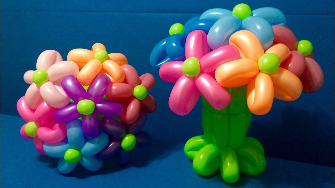 Balloon Bouquet Decoration Tutorial Youtube