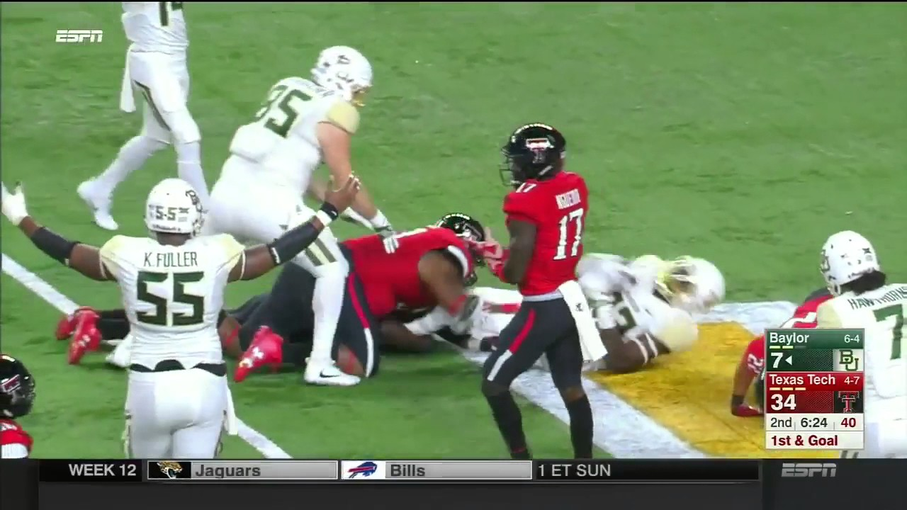 Texas Tech Vs Baylor 2016 Big 12 Football Highlights Youtube