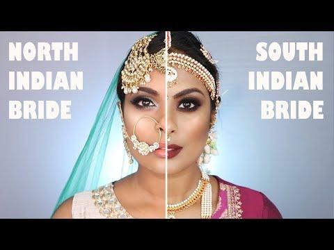 NORTH INDIAN BRIDE VS. SOUTH INDIAN BRIDAL MAKEUP