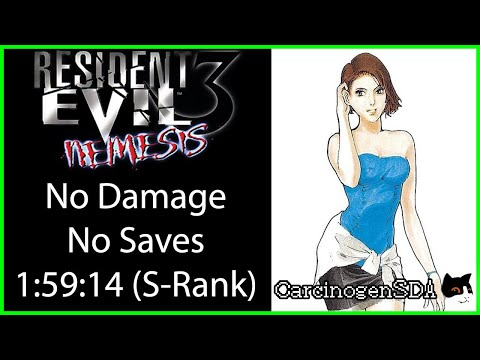 Resident Evil 3 (PSX) - No Save, No Damage S-Rank Walkthrough - (1:59:14) [Commentated]