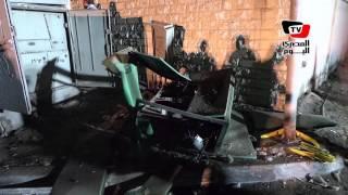 آثار انفجار محول كهرباء أمام «بتروجاس» بمنشية ناصر