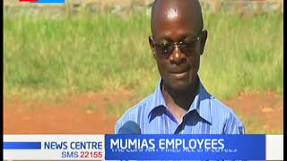The fate of sacked Mumias Sugar company employees to be discussed today