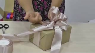 Бант для подарочной упаковки. Вариант 1