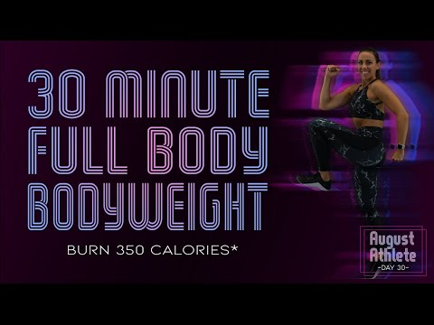 30 Minute HIIT Full Body Bodyweight Workout with Abs 🔥Burn 350 Calories!* 🔥Sydney Cummings