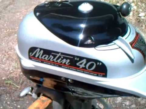 1949 martin 40 outboard motor youtube for Martin motors bmt tx
