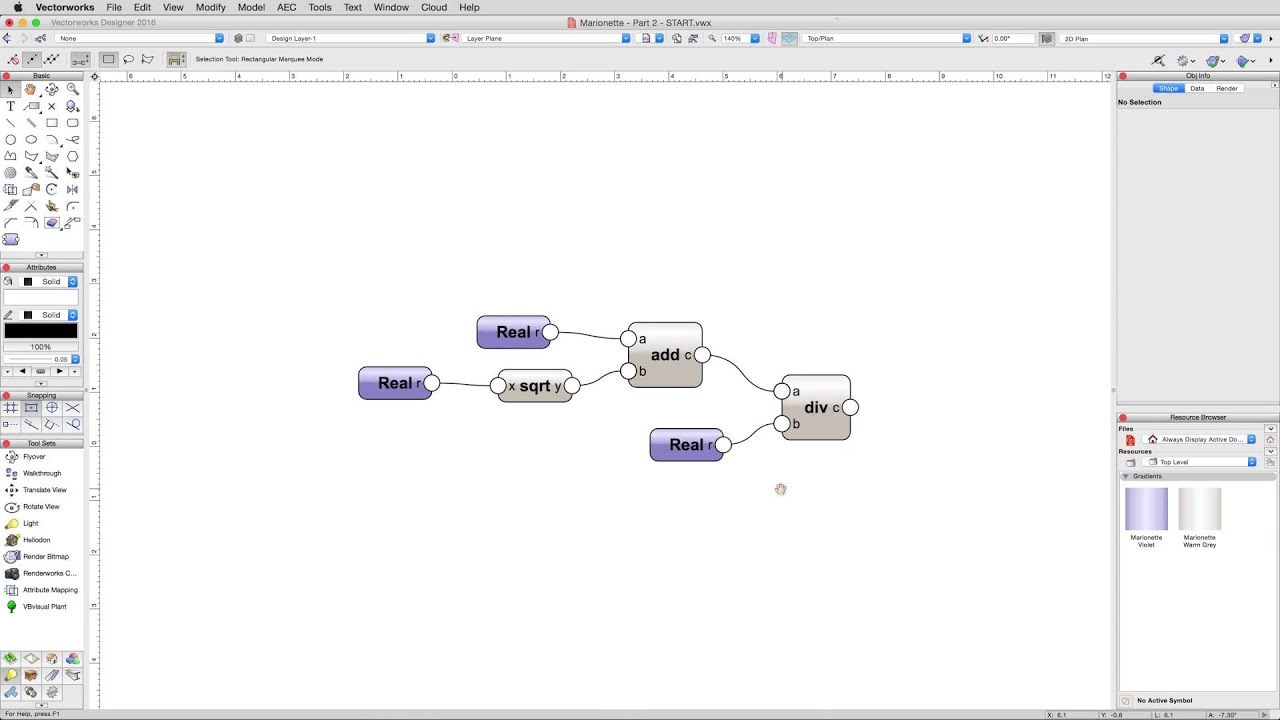 Marionette Tutorials - Knowledgebase - Vectorworks Community