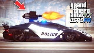 GTA 5 - LSPDFR Ep397 - Lamborghini Police Car w/ Mounted Gun!!