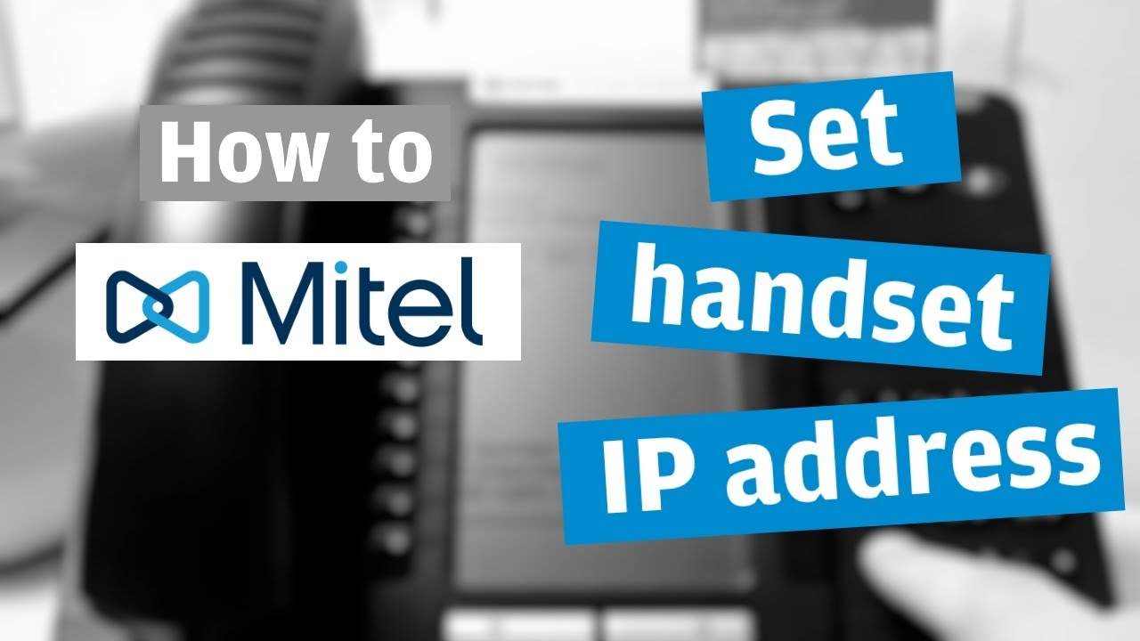 HOW TO: Set IP address in Mitel handsets (connection issue fix)