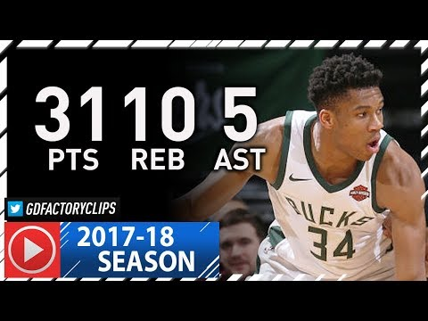 Giannis Antetokounmpo Full Highlights vs Pacers (2018.01.03) - 31 Pts, 10 Reb, 5 Ast in 3 Qtrs