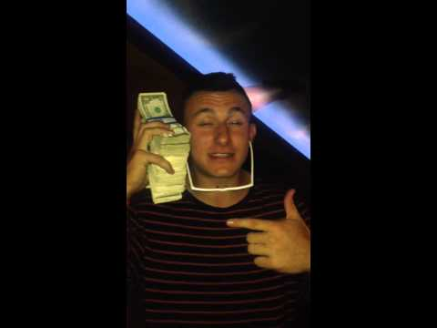 Johnny Manziel on his Money Phone after Spurs beatdown