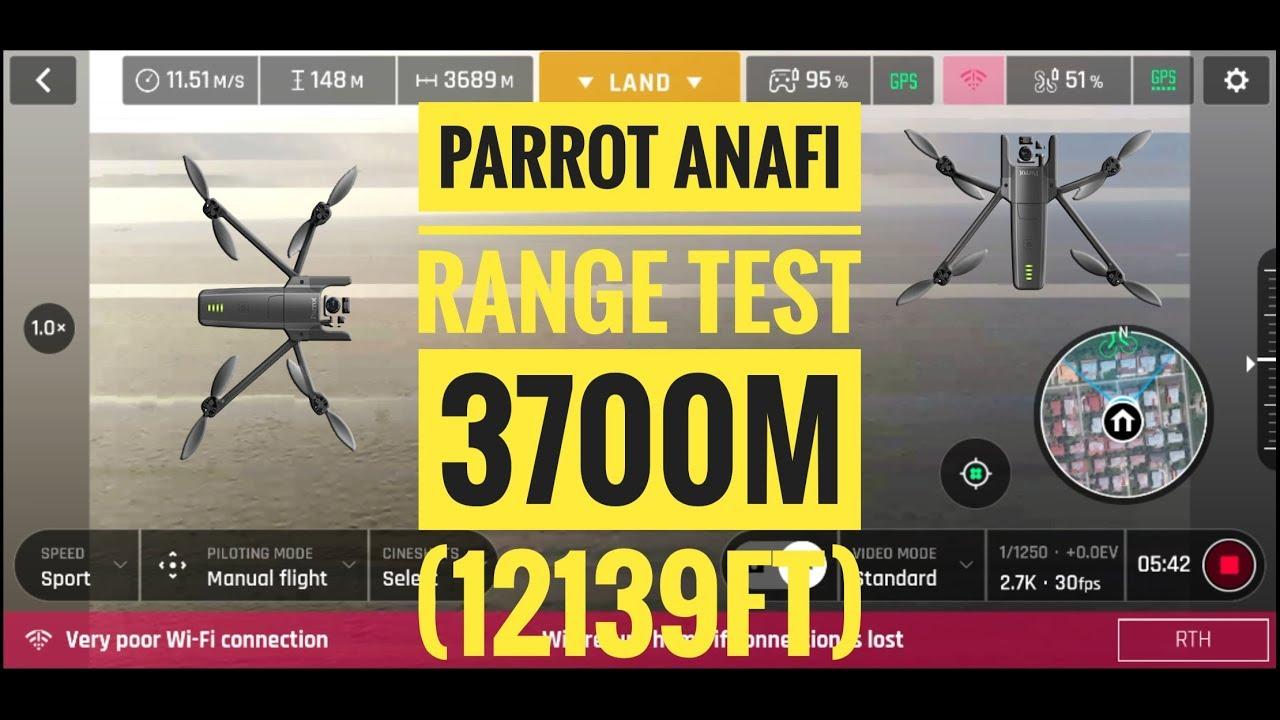 PARROT ANAFI Range Test 2 3700m (12139ft)