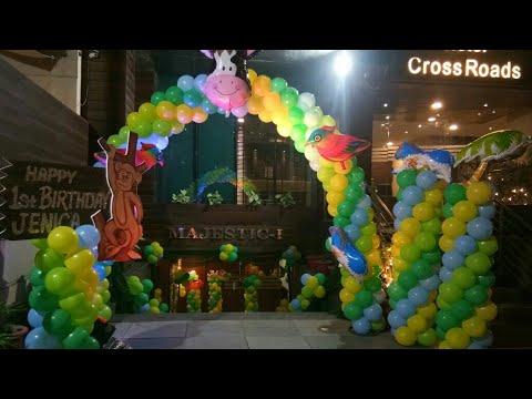 Jungle Theme Birthday Party Decorations Cross Road Hotel Gurgaon India 09891478183