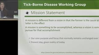 Tick-Borne Disease Working Group Meeting - May 15, 2018