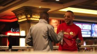 ABSOLUTE BEAST - GUILLERMO RIGONDEAUX ARRIVES @ MANDALAY BAY TO SCREAMING RECEPTION