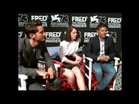 François Ozon, Pierre Neney and Paula Beer  Frantz