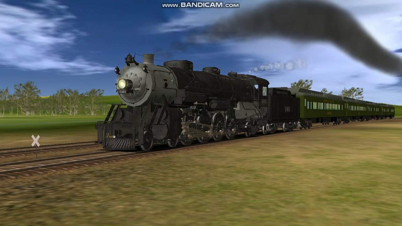 Trainz 2006-Missouri Pacific 4-8-2 Shooting Through the Midwest Countryside