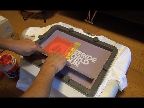 シルクスクリーン印刷でTシャツを作る | Screen Printing | T-Shirt | DIY