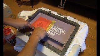 シルクスクリーン印刷でTシャツを作る   Screen Printing   T-Shirt   DIY