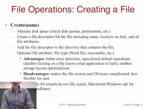 Lecture 15: File Systems: Interface