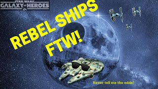 Swgoh REBEL ships are king!!