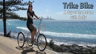 trike bike 24 aluminium trike a day at the beach www trike bike com au