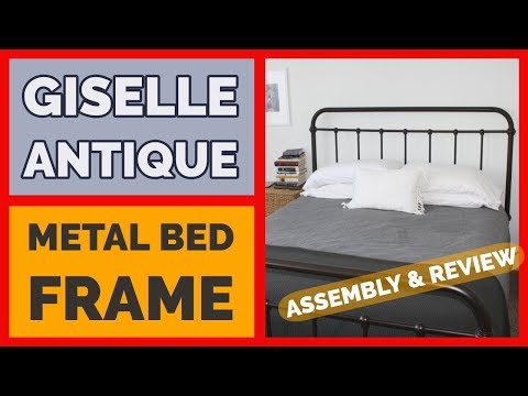 Giselle Antique Metal Bed Frame Assembly & Review