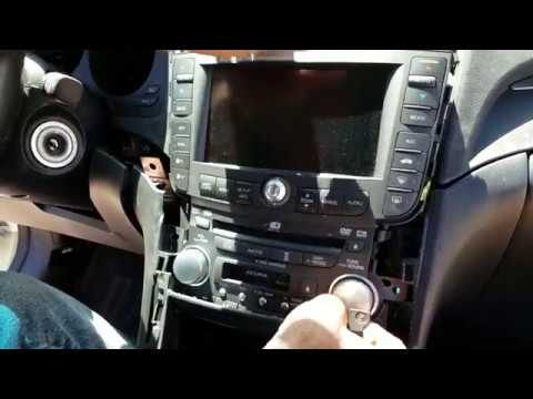 How to Remove Radio / Navigation / Display from Acura TL 2007 for Repair.