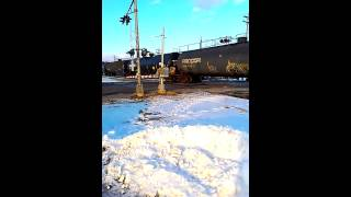 Video CSX Fast Freight Flint, MI (1/4/13) download MP3, 3GP, MP4, WEBM, AVI, FLV April 2018