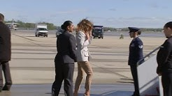 VIDEO: First Lady Melania Trump departs to Fort Bragg, North Carolina on Monday